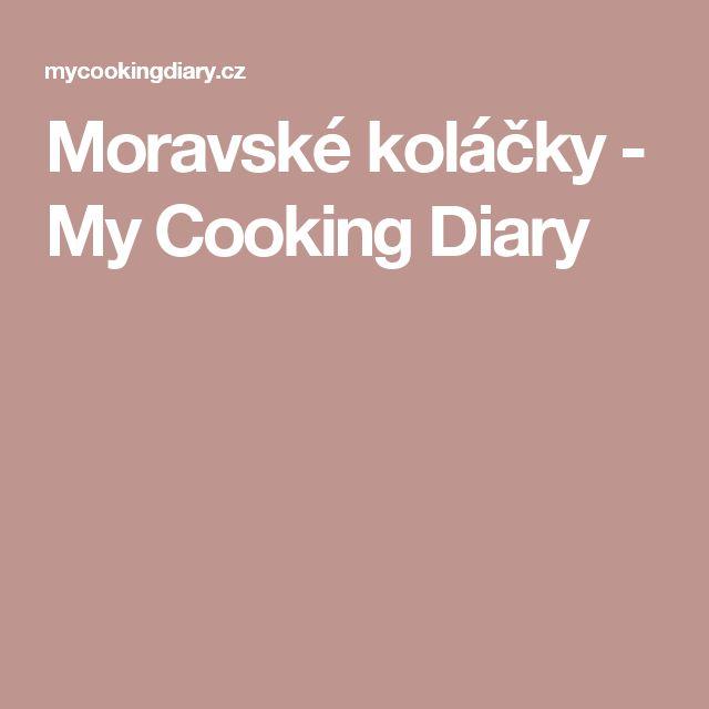 Moravské koláčky - My Cooking Diary