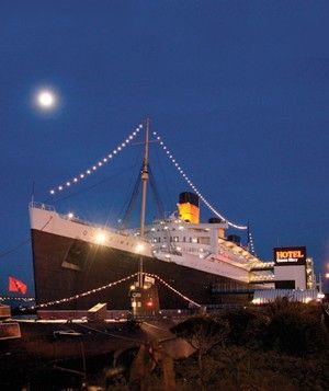Queen Mary, Long Beach, CA Present Day: Places To Visit, Holidays Halloween, Rms Queen, Haunted House, Queen Mary, Haunted Places, Haunted Ship, 13 Haunted, Ghost Hunting