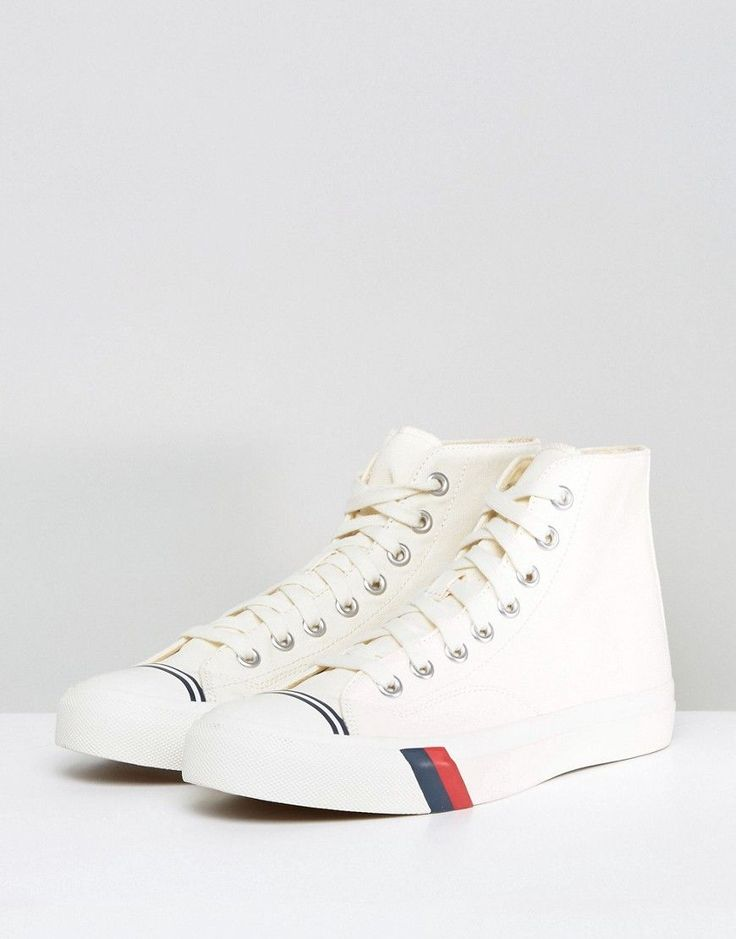 Pro Keds Royal Hi Top Canvas Sneakers - White