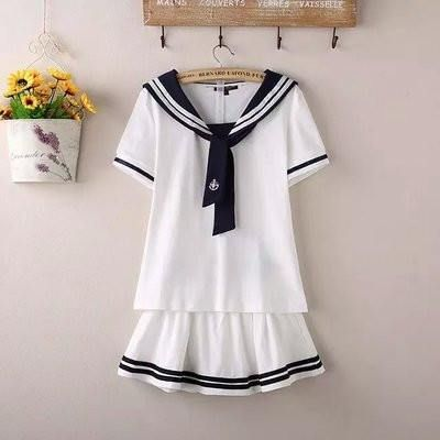 Japanese Navy/White Sailor School Uniforms SD00887 – SYNDROME - Cute Kawaii Harajuku Street Fashion Store