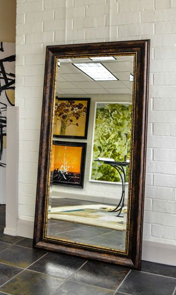 17 best images about brown frames for mirrors on pinterest for Mirror framed floor mirror