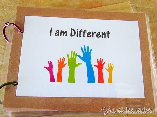 I am different class book for celebrating MLK in preschool, pre-k, or kindergarten