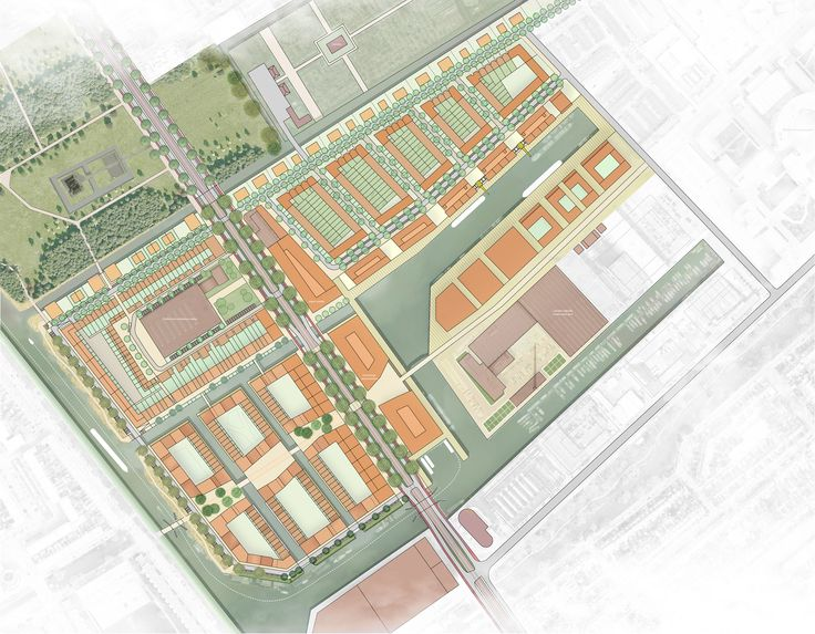 Voorstel voor de herontwikkeling van Binckhorst-Zuid. #2011, #Urbanism, #Stedenbouwkunde, #DenHaag, #Plannetjes, #Plan