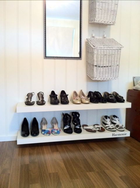 shoe rack could be made with mdf board for the home
