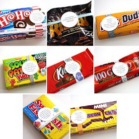 Scripture to go with each candy bar