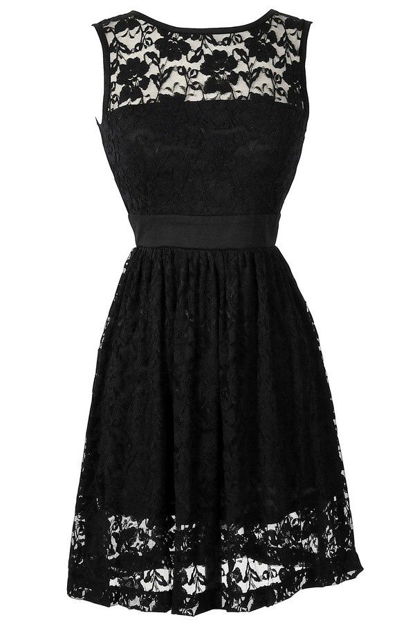 pretty, black lace dress