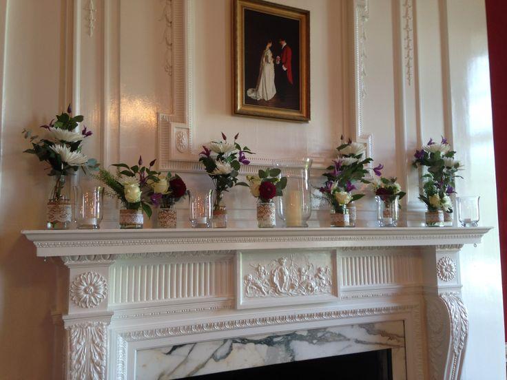 Mantelpiece decoration - jam jars and bottles