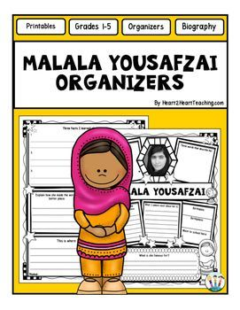 Malala Yousafzai Graphic Organizers - Is your class studying and researching about influential women for Women's History Month? These custom-created Malala Yousafzai organizers will be the perfect organizers to use for your research!Are your students researching and learning about one of the most influential women in American History?