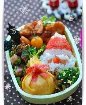 クリスマスプレゼントのお弁当キャラ弁