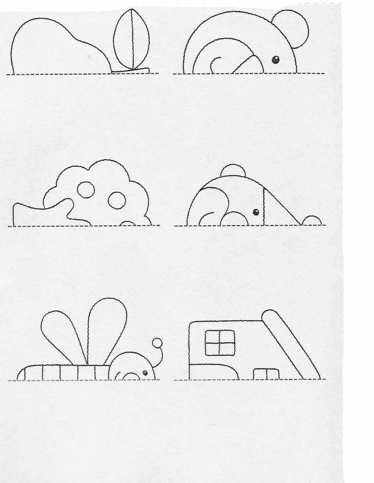 Actividades para niños preescolar, primaria e inicial. Fichas para imprimir en las que tienes que completar los dibujos y colorearlos para niños de preescolar y primaria. Completar y Colorear. 60