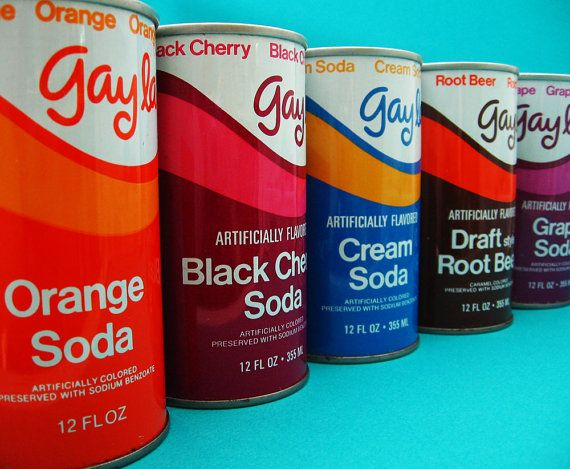 Soda Cans Gayla 1960s Vintage by UncommonShop