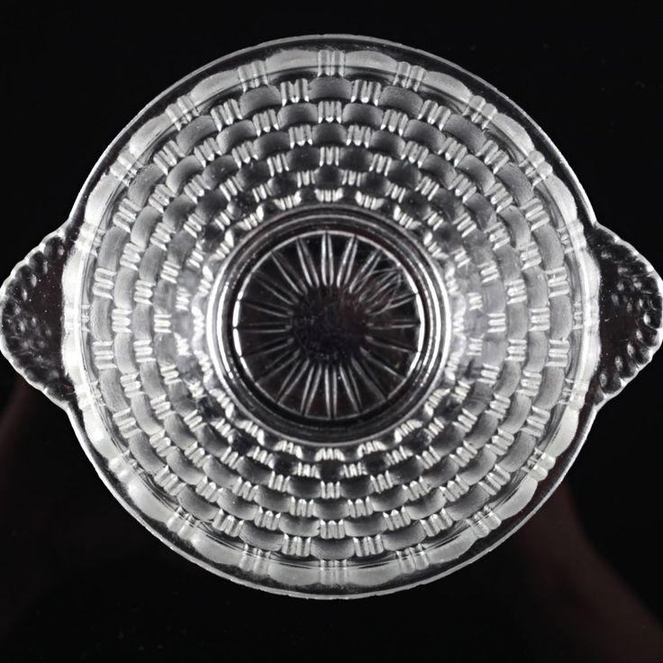1 Vintage Dessertschale Glas Schale 16. Pressglas Schälchen Korb Dekor W8C in…