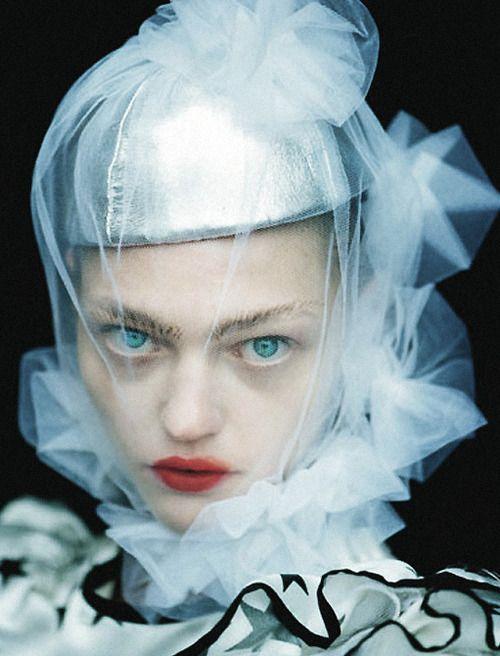 Sasha Pivovarova in 'White Nights' by Tim Walker for Vogue Russia, January 2007.