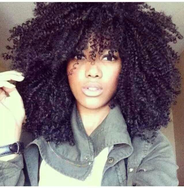 Love the style. Idk about big hair on me :-( Crochet braids great protective style
