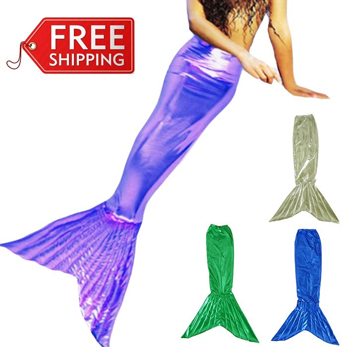 mermaid tail for kids mermaid tails for girls cosplay party halloween costumes for kids children fancy dress custom-in Costumes from Apparel...
