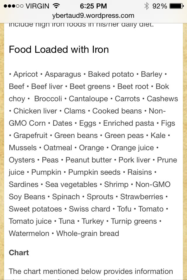 More foods high in iron
