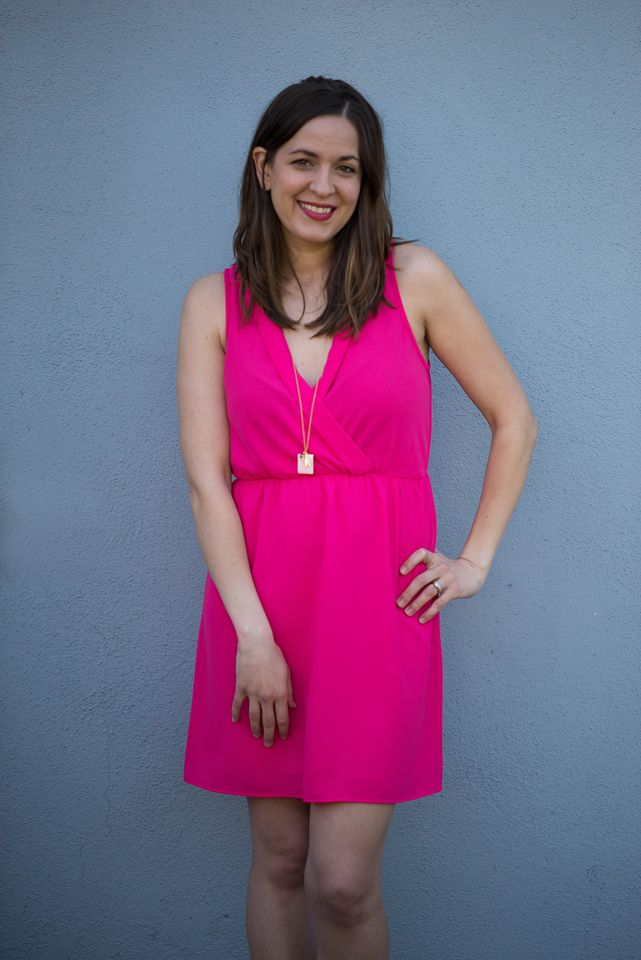 5. Alexis Dress, FRENCH GREY $48 ; LOVE the bright color and the waist.  :)
