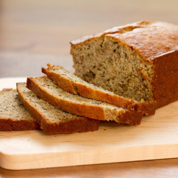 No-Sugar-Added Banana Bread This recipe is dairy free and gluten free. Opt for the applesauce instead of the vegetable oil and use an almond GF flour for a savory, clean bread.
