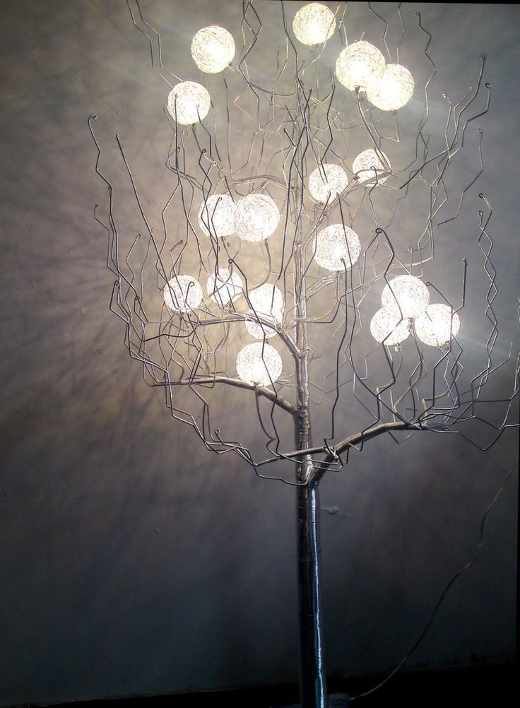 Repurpose tree branch to lighting let there be light - Tree branches with lights ...