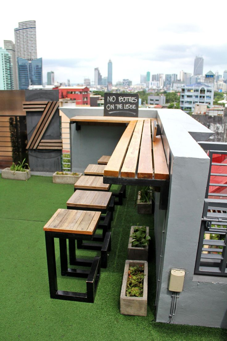 Condo balcony furniture ideas - Roofdeck Bar At The Z Where To Stay In Manila Z Hostel Poblacion Condo Balconybalcony