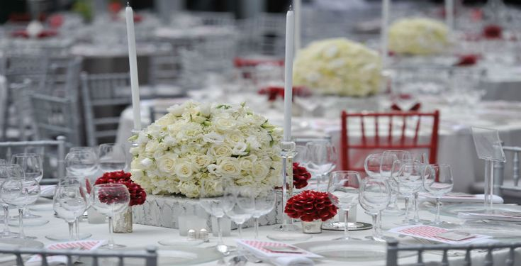 White Rose Low Centerpiece
