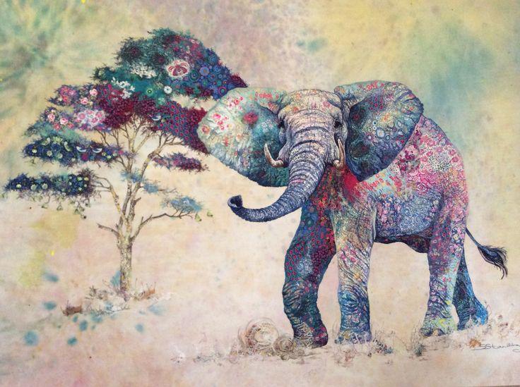 открытки с индийским слоном