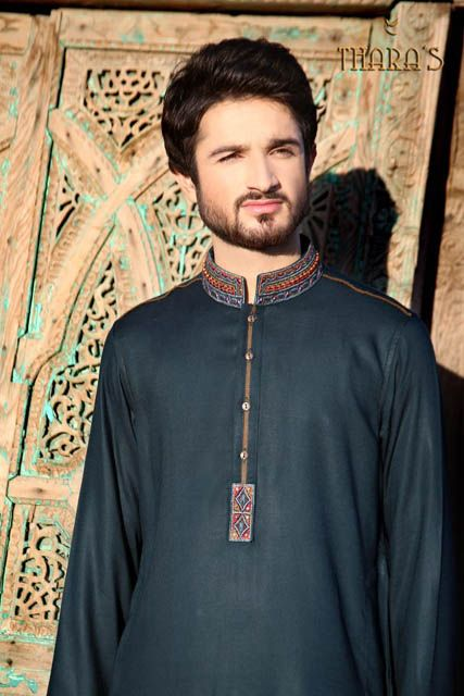 Thara's Men Wear Summer Kurta Shalwar Collection 2013 Fashion (1)