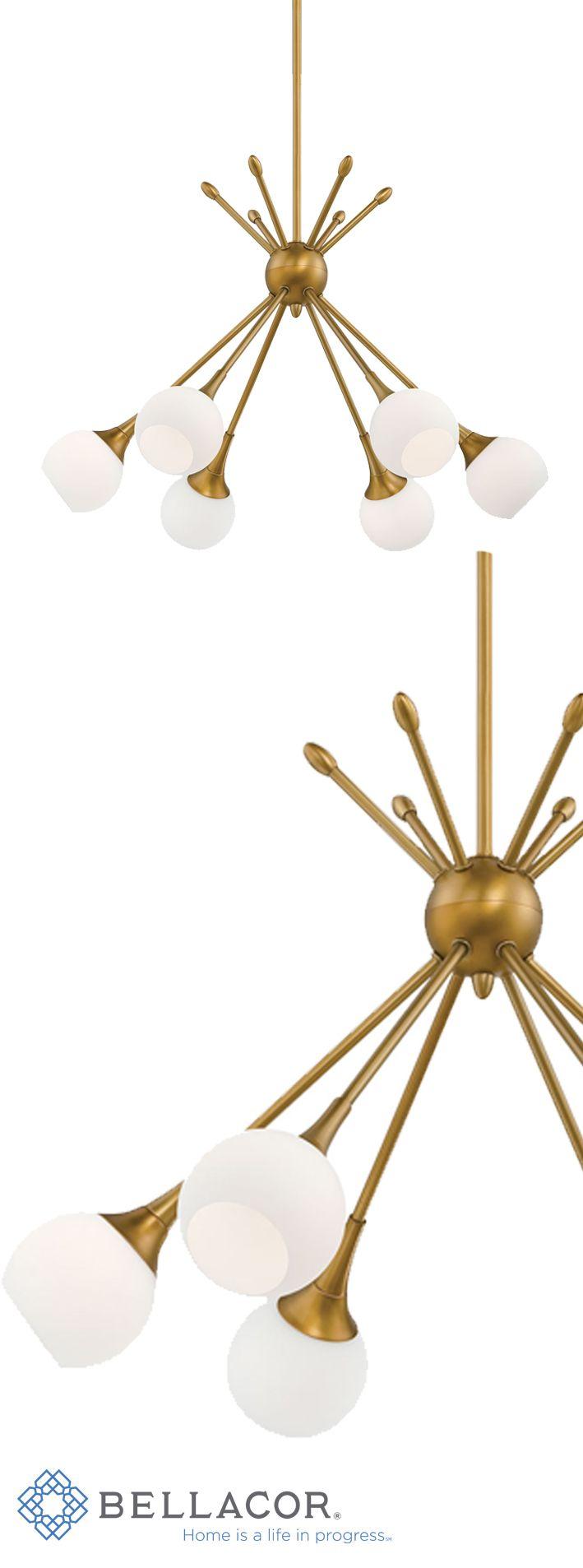George kovacs by minka bath art vanity light with case etched opal - George Kovacs Pontil Honey Gold Six Light Chandelier