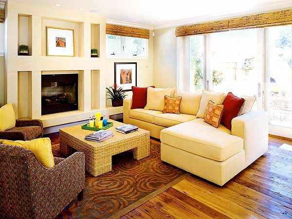 16 best images about small family room with fireplace for Living room layout with sectional