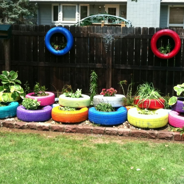 Tire garden - really want to do this.