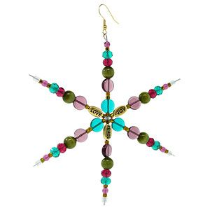 Peace, Love, and Joy Snowflake   Fusion Beads Inspiration Gallery