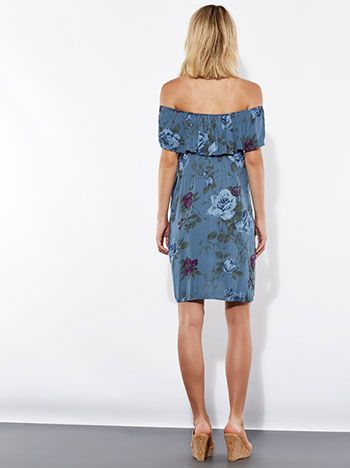 Celestino - Floral off the shoulder viscose dress
