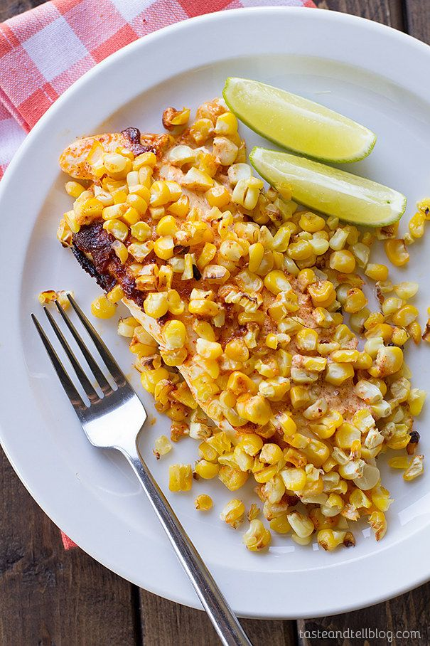 Tilapia With Roasted Corn | 27 5-Ingredient Dinners That Are Actually Healthy