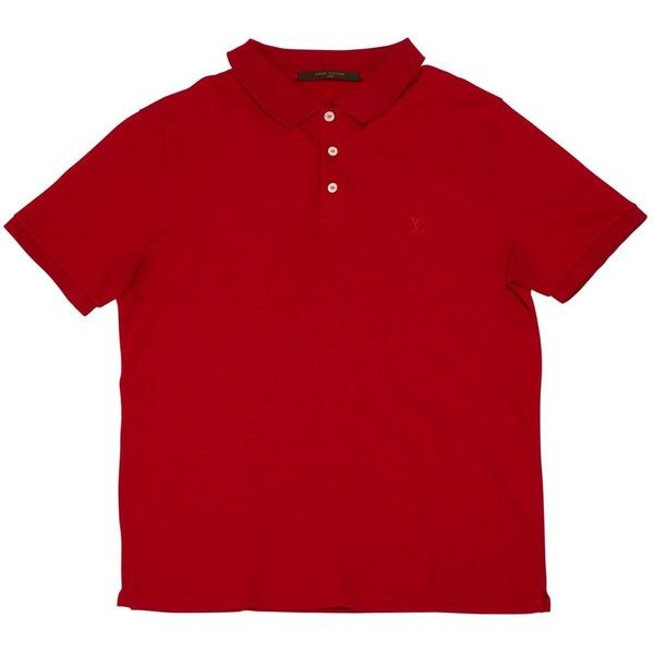 Pre-owned Louis Vuitton Polo Shirt (3.494.530 IDR) ❤ liked on Polyvore featuring men's fashion, men's clothing, men's shirts, men's polos, men clothing polo shirts, red, louis vuitton mens shirts, mens red shirt, men's cotton polo shirts and mens red polo shirt