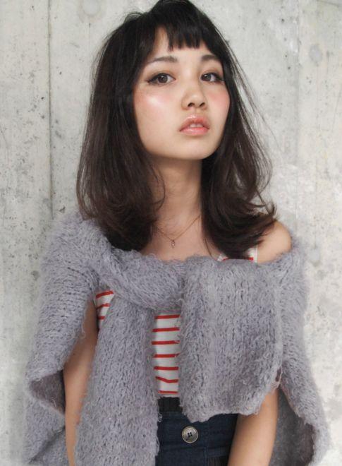 外国人風 ★ Bitter choco 【LOAVE OMOTESANDO】 http://beautynavi.woman.excite.co.jp/salon/27403?pint ≪外国人風・ミディアム・ヘアスタイル・medium・hairstyle・髪形・髪型・セミロング≫