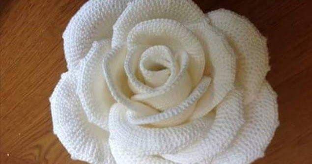 ergahandmade: Big Crochet Rose + Diagrams