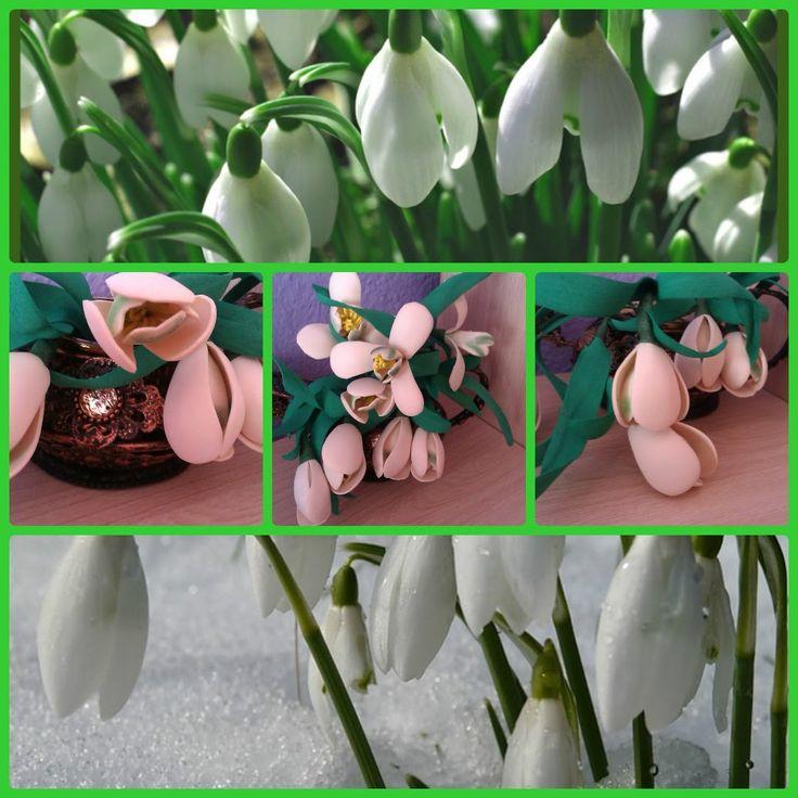 Подснежники из фоэмирана! Весенние цветы! 2 часть Своими руками#