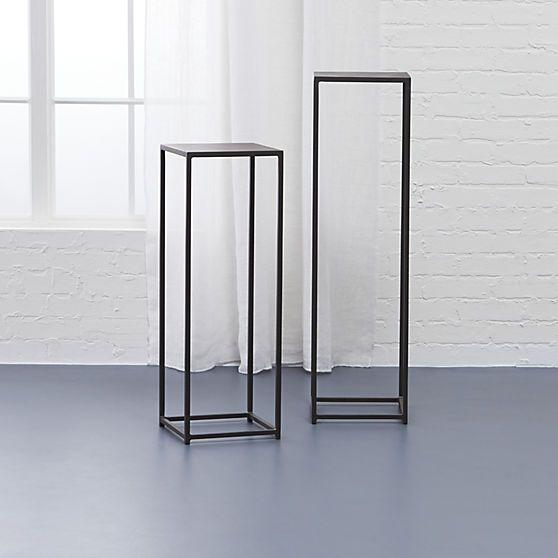 Iron pedestal tables antiqued finish