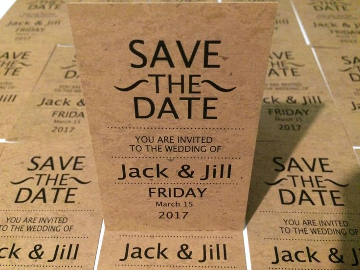 Magnetic Save the Date cards for wedding comes with envelope retro design