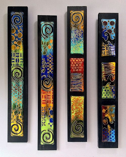 Fused glass panes by Jeff & Jaky Felix / Joyful Imagination Glass