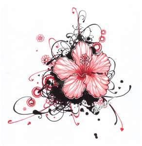 Normally like tribal & ALL black tattoos... but this is really pretty ♥♥♥ #flowertattoos #hibiscustattoos #tattoo