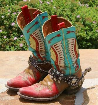 Rocketbusters cowboy boots - love the red & turquoise
