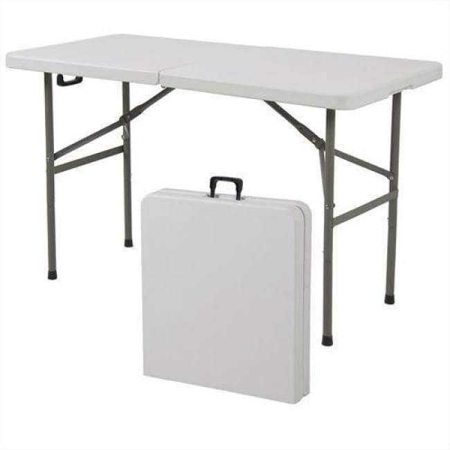 Multipurpose 4 Foot Center Folding Table With Carry Handle Folding Table Camping Table Outdoor Dinning Table