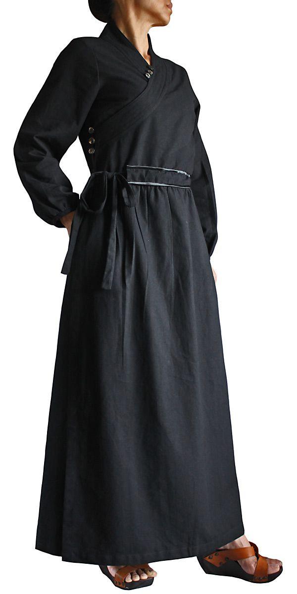 ジョムトン手織綿ランナーラップドレス