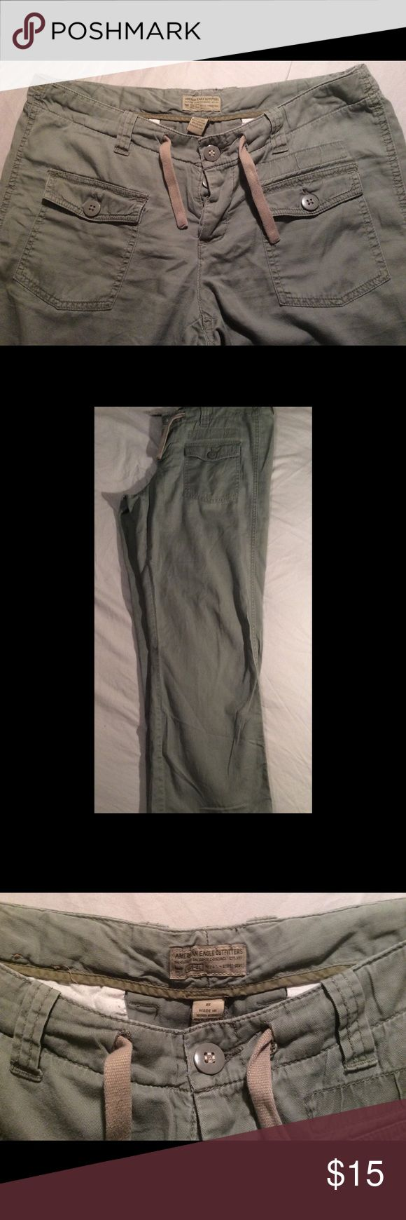American Eagle Combat 3rd Division Pants Size 8 American Eagle Combat 3rd Division Pants Size 8.  Inseam 30. Excellent Condition!                                     There are no stains or holes in item.  The zipper works excellent and all buttons are secure.  Smoke-free and Pet-free home. American Eagle Outfitters Pants