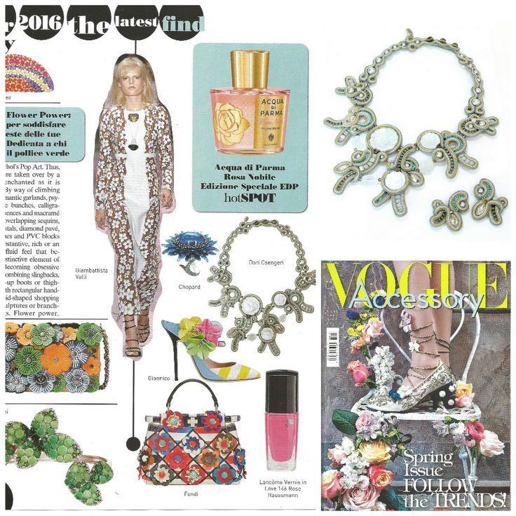 Romantic white rose cameos and feminine pearls add up to the earnestly graceful Moon Shadow necklace that makes even the most cynical fashion girl swoon... as seen in Vogue Accessory, Italy  #DoriCsengeri #VogueAccessory #floralnecklace #romanticnecklace #statementnecklace #ss2016 #fashionaccessories