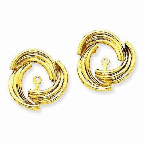 14k Polished Fancy Earring Jackets Size: 9 RedBoxJewels.com. $200.95