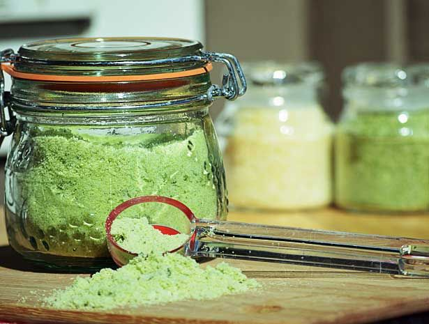 How to Preserve Homegrown Herbs with Sea Salt:  A simple and tasty alternative for preserving fresh homegrown herbs.