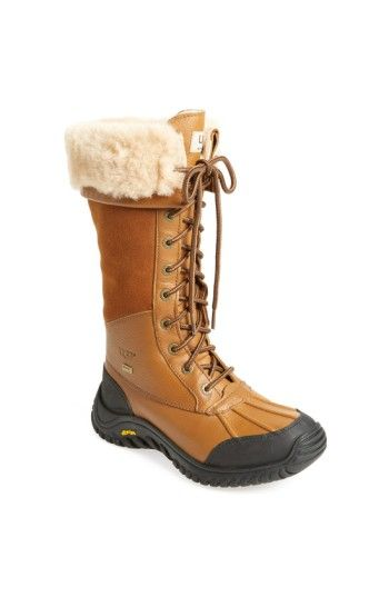 Free shipping and returns on UGG® Adirondack Waterproof Tall Boot (Women) at Nordstrom.com. A flexible lace-up boot features a waterproof full-grain-leather upper and plush UGGpure™ lining for cozy comfort. An exclusive, repeating lug pattern on the outsole maximizes surface contact to enhance traction.
