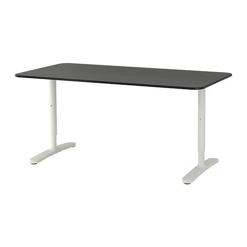 Bekant Desk White 63x31 1 2 Ikea In 2020 Black Desk Ikea Desk
